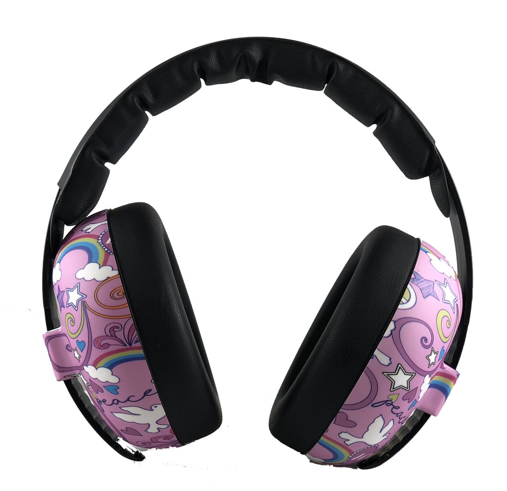 Baby BANZ Earmuffs Infant Hearing Protection – Ages 0-2 Years – Peace Doodle