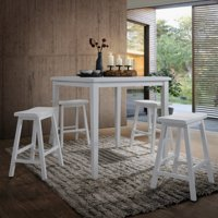 ACME Gaucho 5-Piece Pack Counter Height Set, White