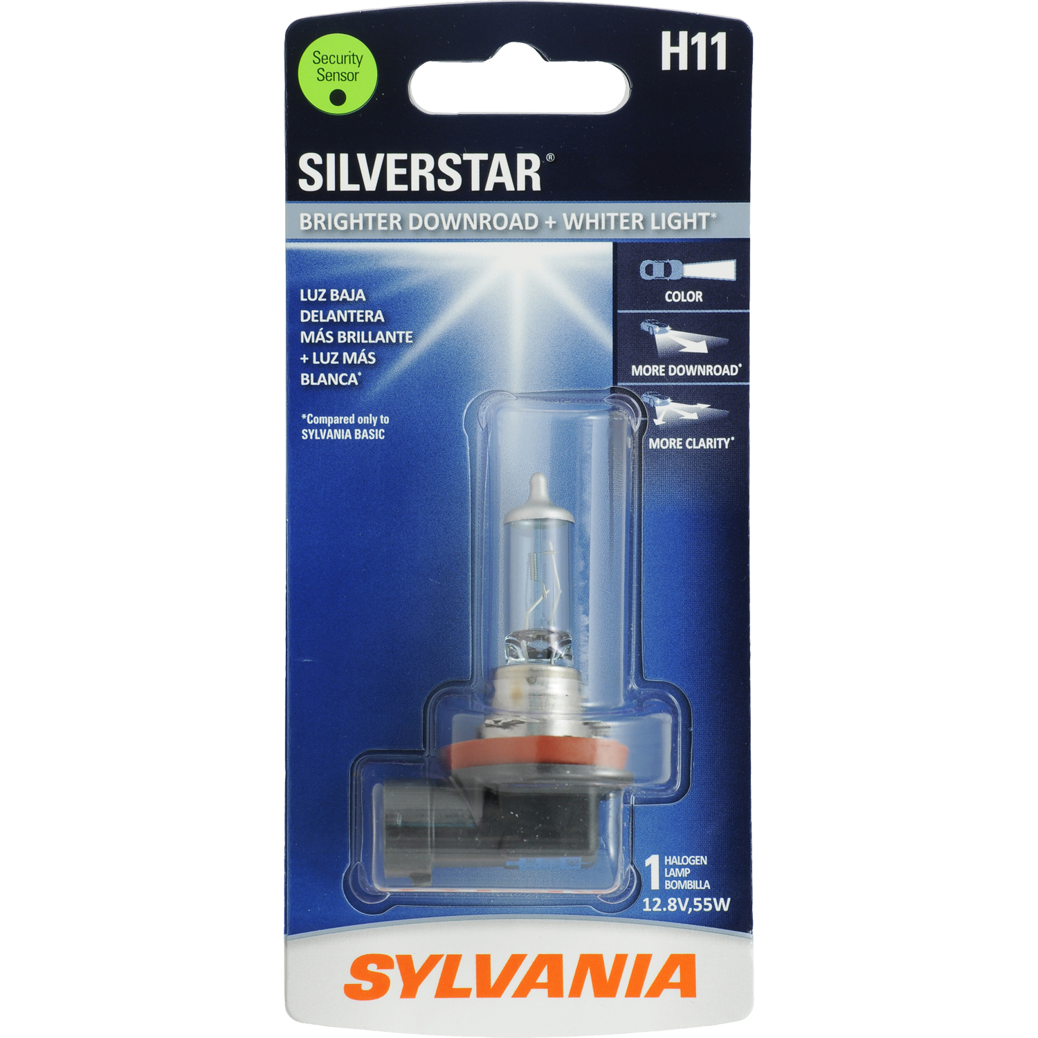 SYLVANIA H11 SilverStar Halogen Headlight Bulb, Pack of 1
