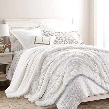 "Chanasya Super Soft Shaggy Longfur Throw Blanket | Snuggly Fuzzy Faux Fur Lightweight Warm Elegant Cozy Plush Sherpa Fleece Microfiber Blanket | for Couch Bed Chair Photo Props - 50""x 65"" - White - image 3 of 5"