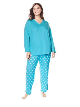 Dreams & Co. Plus Size Knit Sleep Pant