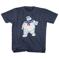 Real Ghostbusters MR STAY PUFT XL T-shirt Navy Heather Child Boy's Girl's Short Sleeve T-shirt