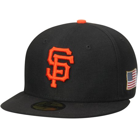 1a604ad644f8b San Francisco Giants New Era Authentic Collection On-Field 59FIFTY Flex Hat  with 9 11 Side Patch - Black - Walmart.com