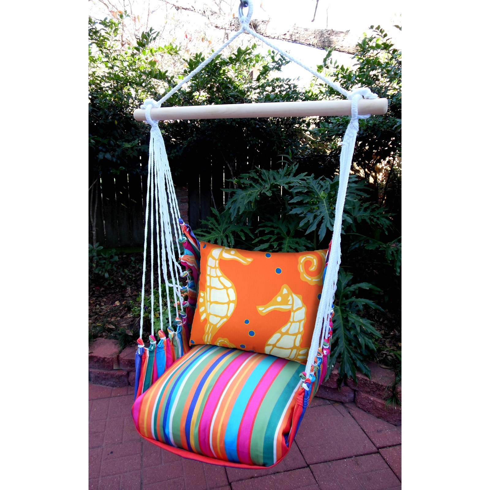 Magnolia Casual Seahorse Hammock Chair & Pillow Set
