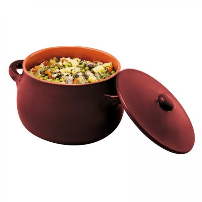 Paderno World Cuisine 48401M18 Stew Pot with Lid, Brown