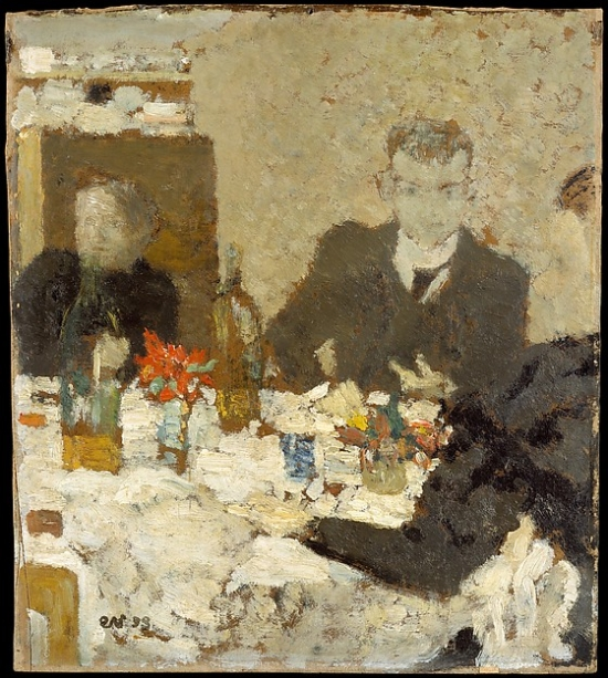 At Table Poster Print by Edouard Vuillard (18 x 24)