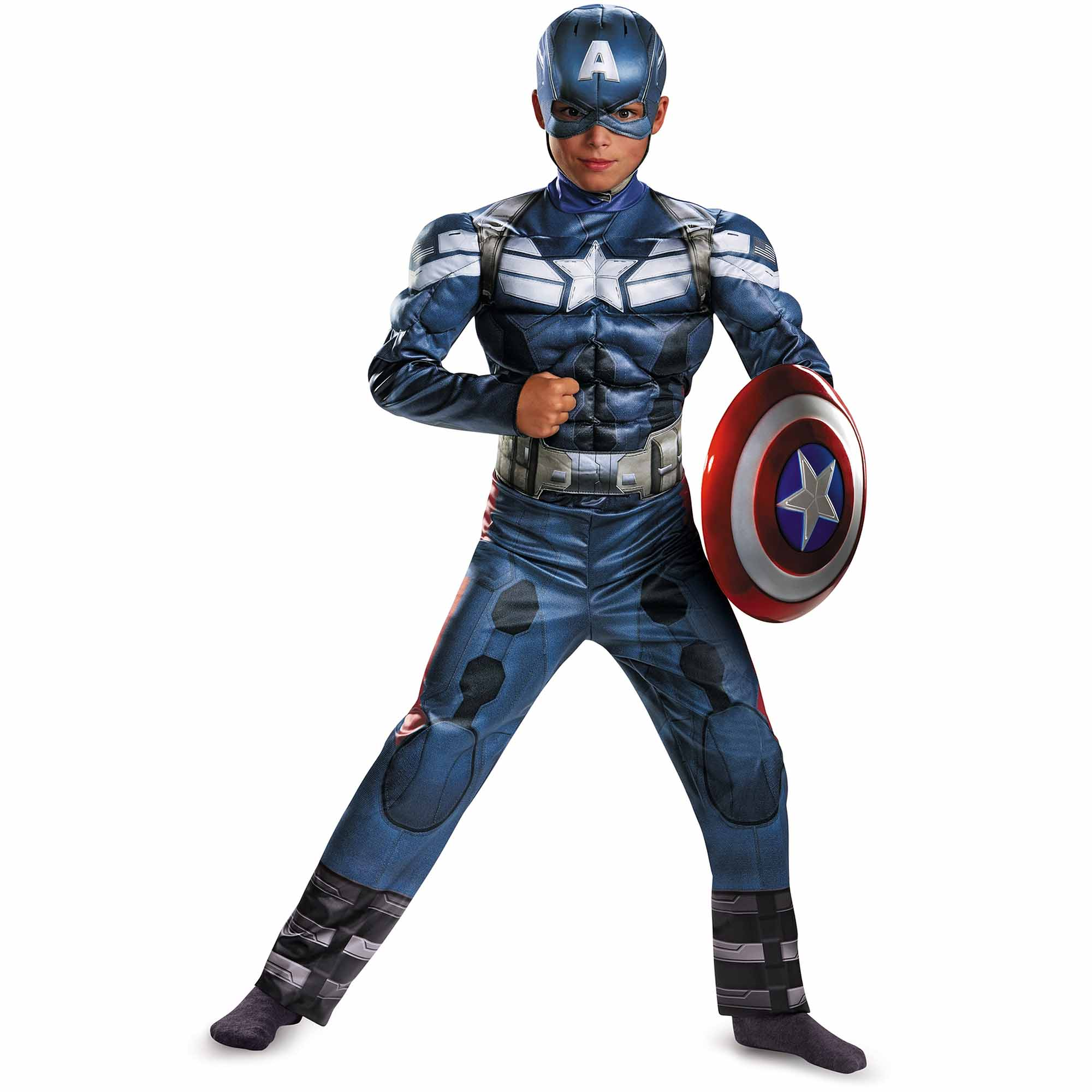 Captain America Retro Muscle Child Halloween Costume