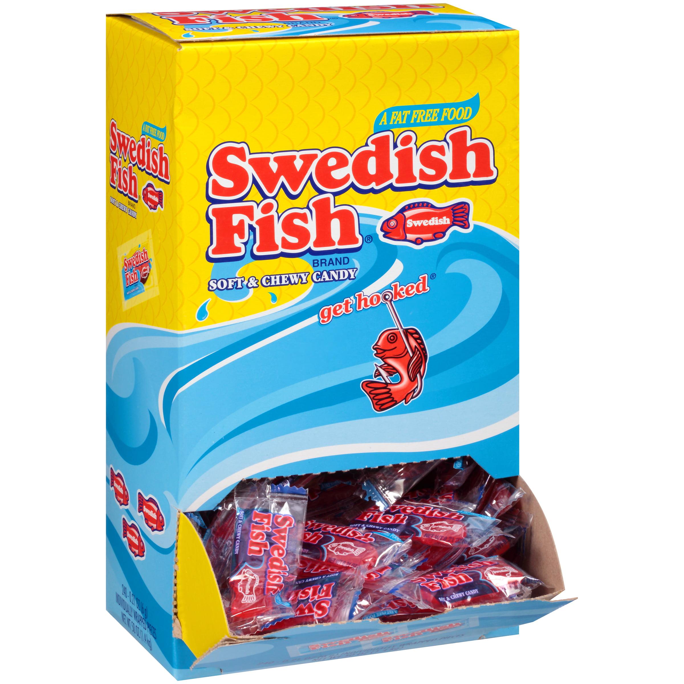 Swedish Fish, Grab-and-Go Candy Snacks Box, 240 Ct