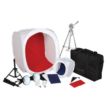 Square Perfect SP500 Platinum Photo Studio In A Box with 2 Light Tents & 8 Backgrounds For Product