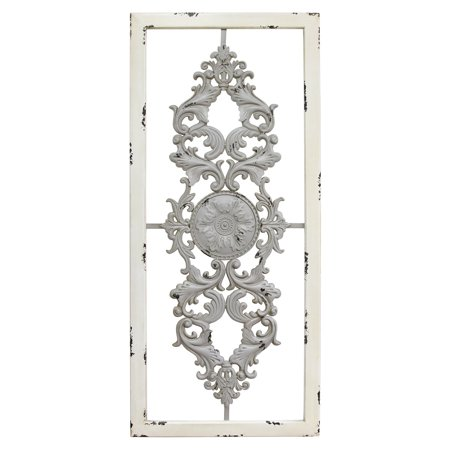Stratton Home Decor Grey Scroll Panel Wall -