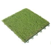 Qiilu Outdoor Lawn Mat 3cm Turf Plastic Grass Bottom Waterproof Grass Board Splice Board Lawn Artificial Rug Artificial Grass