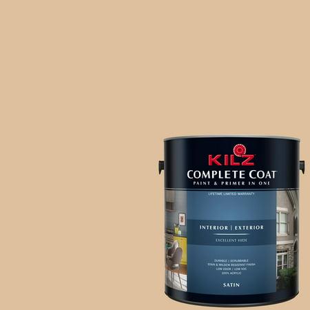 KILZ COMPLETE COAT Interior/Exterior Paint & Primer in One #LD170-02 Lion Cub