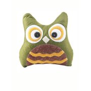 Quilted Green Owl Pillow by Ganz
