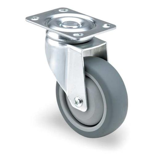 Swivel Plate Caster,TPR,3 in.,210 lb. ZORO SELECT 2G053