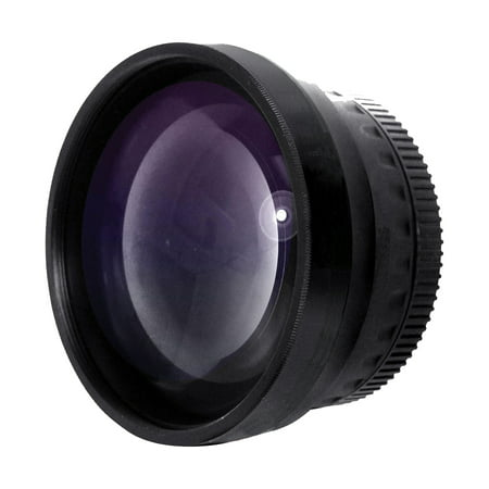 Optics 2.0x High Definition Telephoto Conversion Lens for Canon PowerShot SX530 HS (Includes Lens Adapter - 10 Lens Adapter