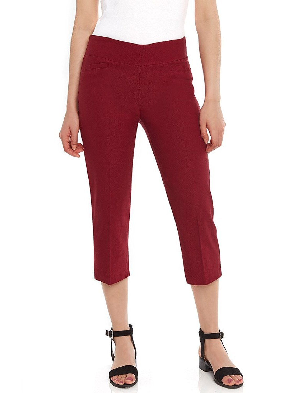 Women's Pull-On Comfort Fit Capri Dress Pants