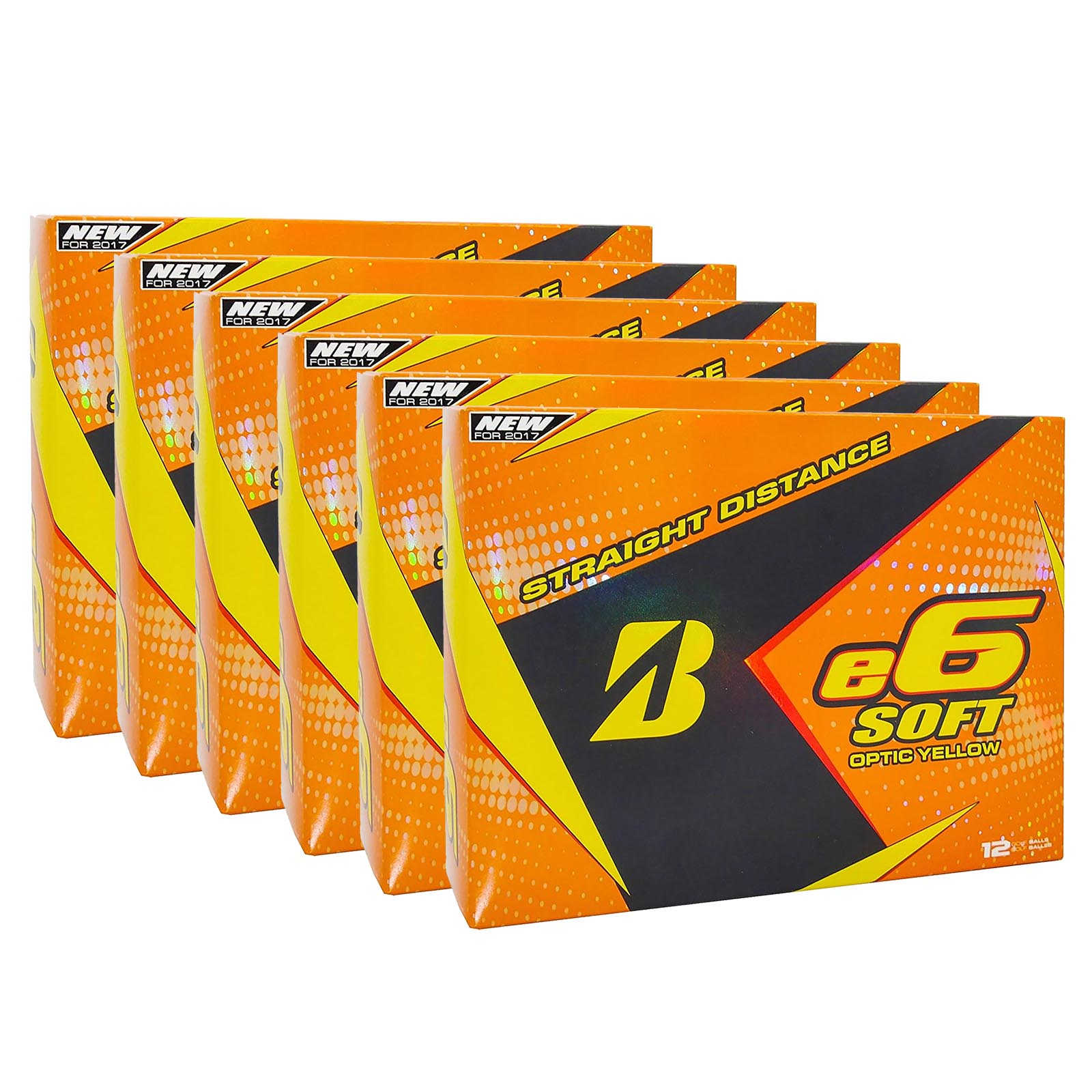 Bridgestone 2017 e6 Soft Yellow Straight Distance Low Spi...