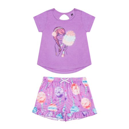 Girls' Cotton Candy 2 Piece Pajama Short Set (Little Girl & Big Girl)