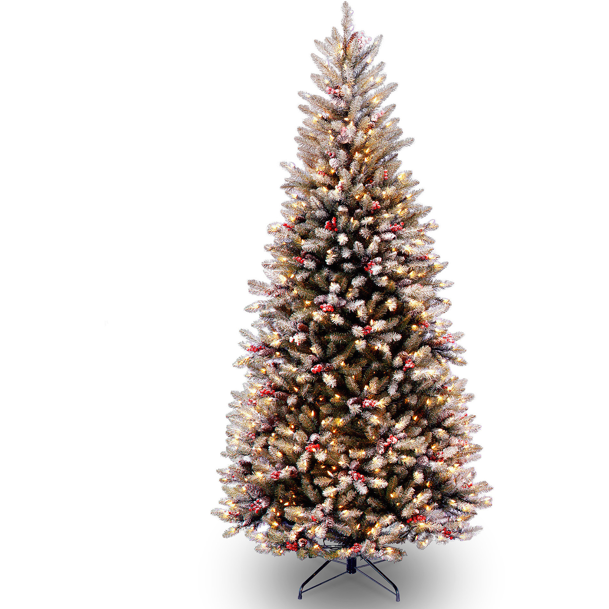 National Tree Pre-Lit 7-1/2' Carolina Pine Hinged Artificial ...