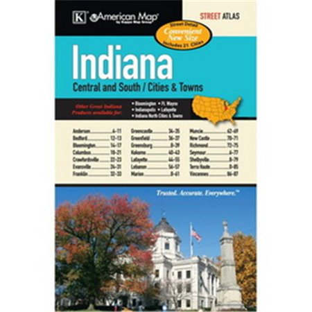 Indiana State Map With Cities And Towns.Universal Map 16025 1602527 Indiana State Central And South Cities
