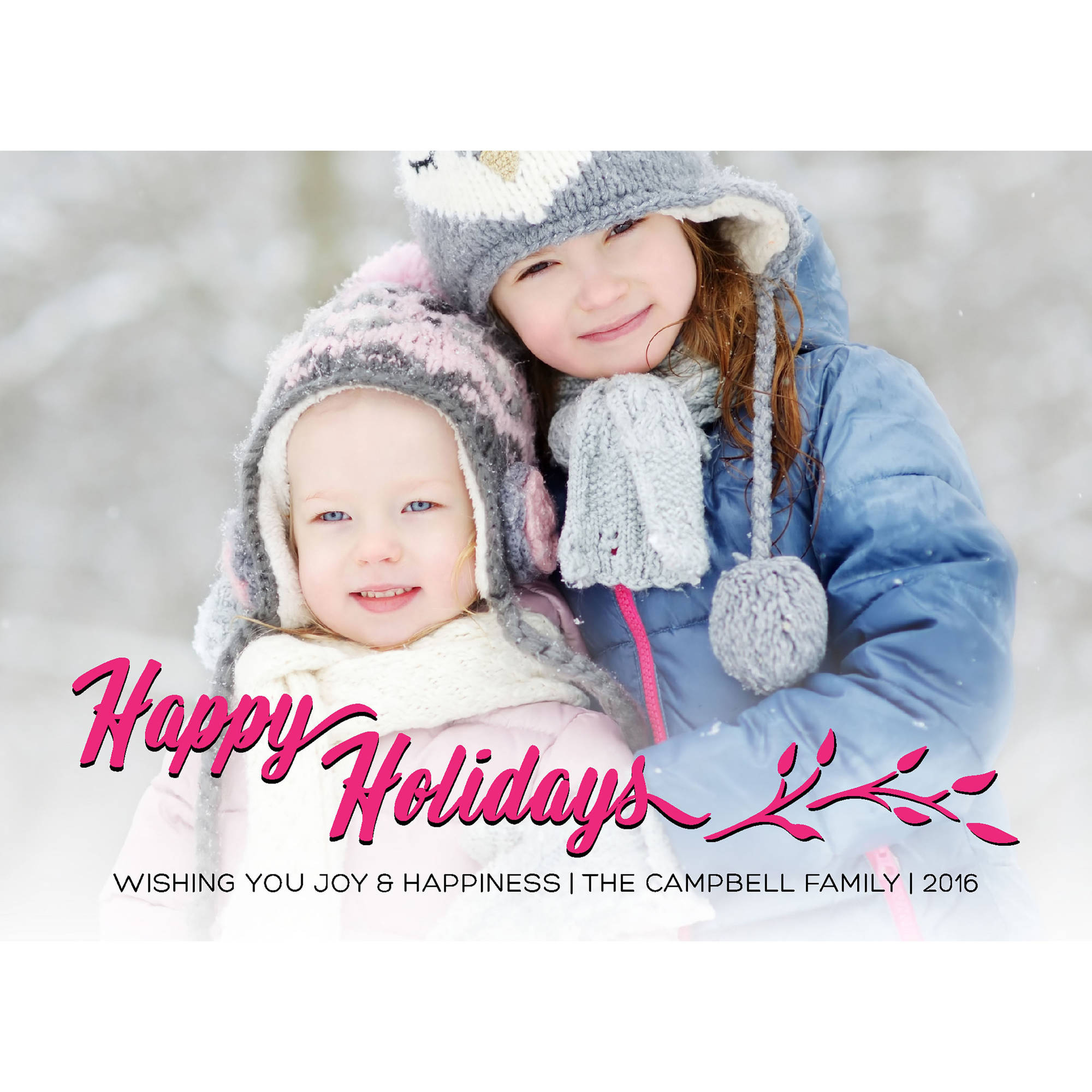 Classic Happy Holiday Holiday Card