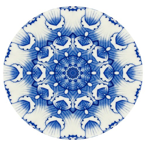 Bungalow Rose Kerley 'China Blue #4' Graphic Art Print on Canvas