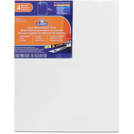 Elmer's, EPI950021, Sturdy-board Foam Board, 4 / Pack