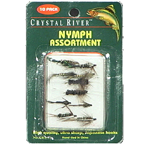 Crystal River 10pk Nypmh Flies, Assorted