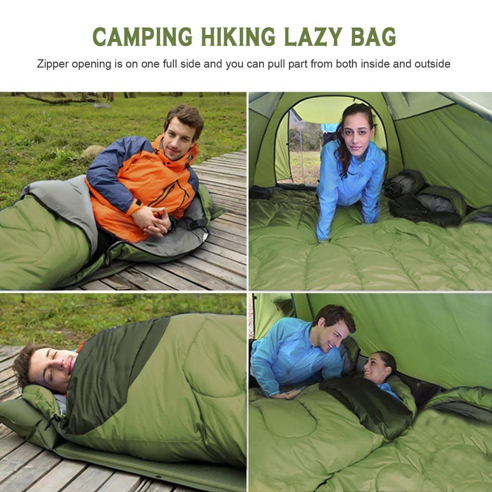 Comfortable Large Single Sleeping Bag Warm Soft Adult Waterproof Camping Hiking Lazy Bag Sleeping Beach Bed by Feel