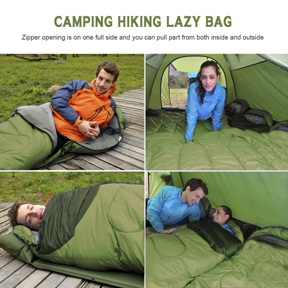 Comfortable Sleeping Bag for Camping Super Warm Large Single Sleeping Bag for Adult 30 Degree Waterproof Hiking Lazy Bag Sleeping Bag for Cold Weather,Green