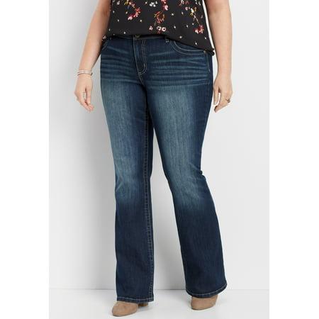 f8df3c56e1f maurices - Maurices Women s DenimFlex Bootcut Jeans - Plus Size Dark Wash -  Walmart.com