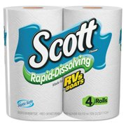 Scott Rapid Dissolve Toilet Paper, 4 Rolls