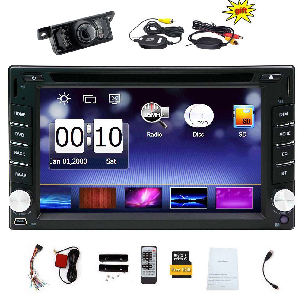 "Upgarde Version With Wireless Camera ! 6.2"" Double 2 DIN Car DVD CD Video Player Bluetooth GPS Navigation... by EinCar"