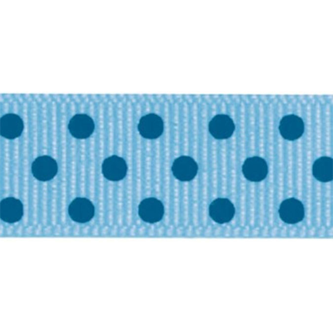 "Grosgrain Confetti Dot Ribbon 7/8""X10yd-Blue"