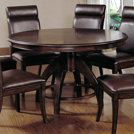 nottingham round pedestal dining table dark walnut