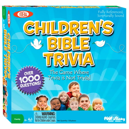 Ideal Children's Bible Trivia Game Napkin Trivia Game