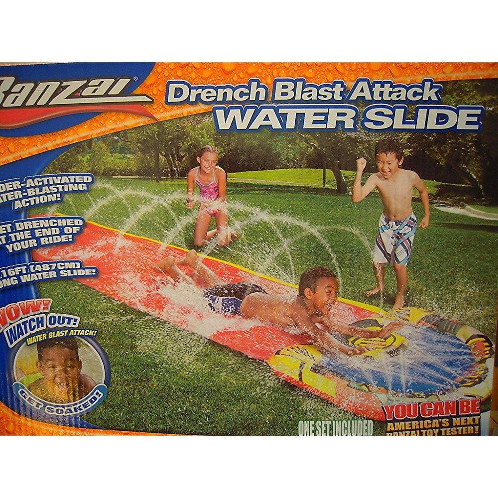 Banzai Drench Blast Attack Water Slide - 16 ft