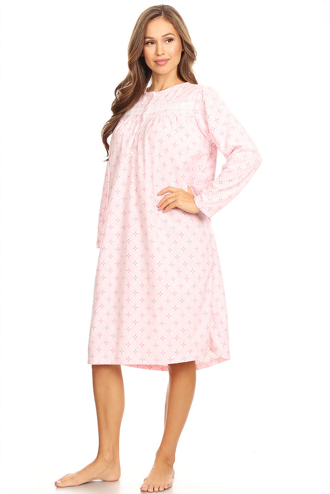 Lati Fashion - 4028 Fleece Womens Nightgown Sleepwear Pajamas Woman ... b0a12ea67