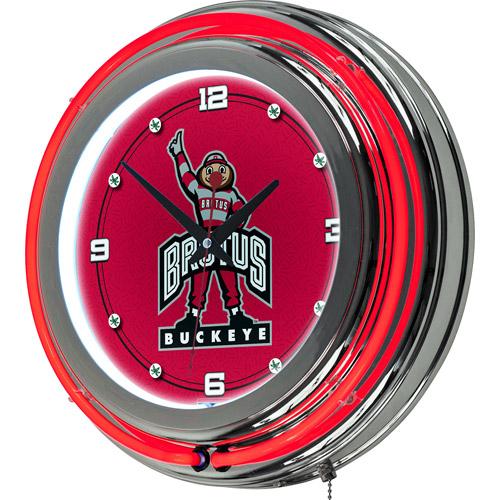 The Ohio State University Neon Clock - 14 inch Diameter