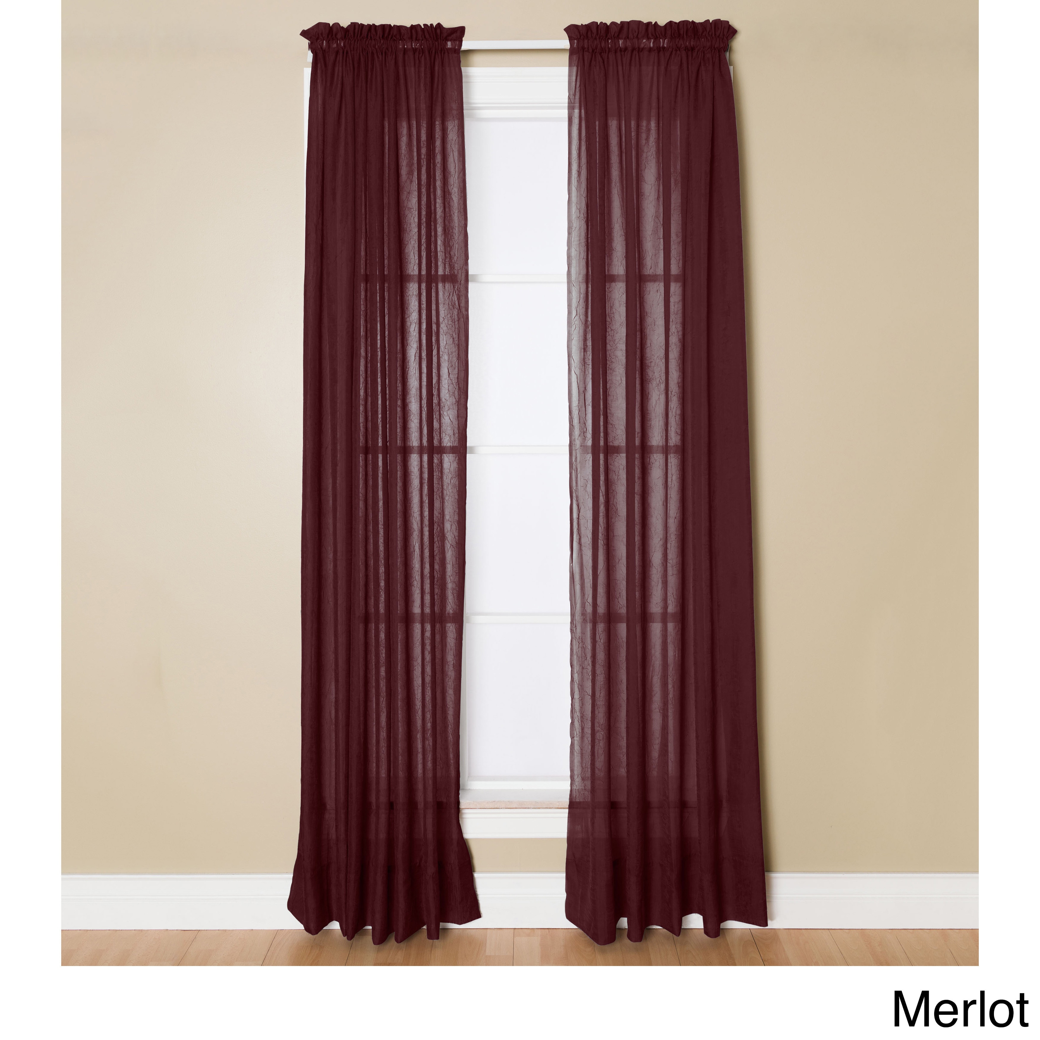 Miller Curtains Preston 63-inch Rod Pocket Sheer Curtain