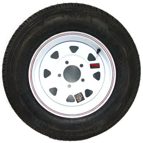 "Trailer Wheel and Tire 13"" White Spoke 5-4.5"" Trailer Whe..."