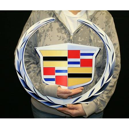 """Cadillac Emblem Metal Sign 2 Pc (19"""" x 18"""") - Walmart.com"""