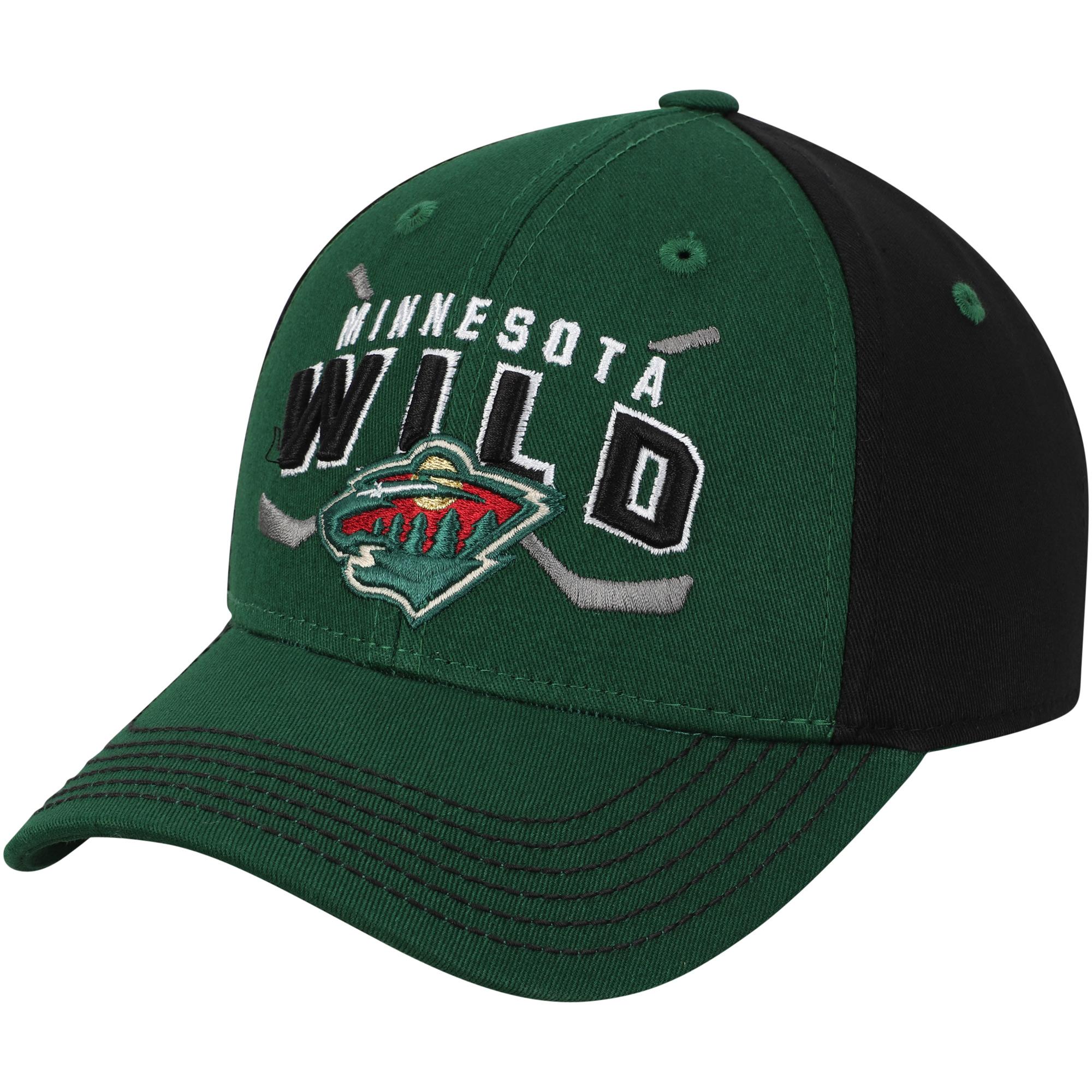 Minnesota Wild Youth Faceoff Adjustable Hat - Green - OSFA