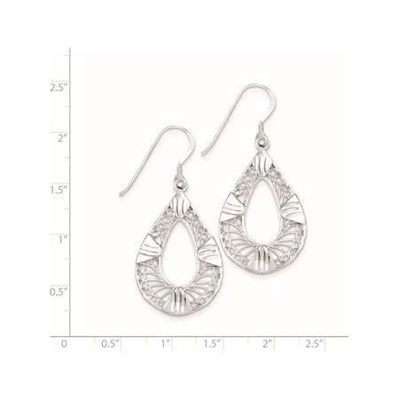 925 Sterling Silver Filigree (22x48mm) Earrings - image 1 of 2