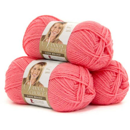Lion Brand Yarn Vanna's Choice, 3-Pack, 100 Percent Acrylic, Multiple (Stitch Studio By Nicole Belle Yarn Colors)