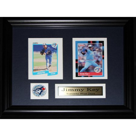 Jimmy Key Toronto Blue Jays 2 Card Mlb Baseball Memorabilia Collector Frame