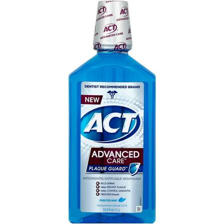Act Advanced Care Plaque Guard Frosted Mint Antigingivitis Antiplaque Mouthwash  33 8 Oz