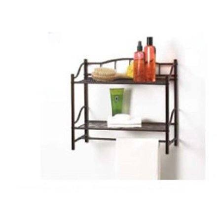 Creative Bath 20063-ORB 2 Shelf Wall Organizer with Towel Bar - Oil Rubbed Bronze (58 Imperial Bronze Bath)