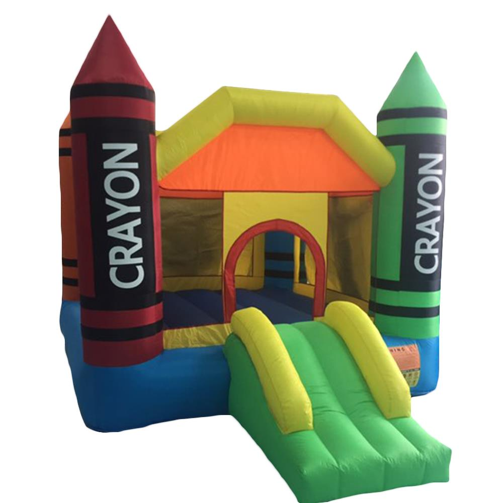 Ktaxon Thick Oxford Cloth Inflatable Bounce House Castle Jumper Kids Play Castle Multicolor With 480W Air Blower And 200 x Colorful Ocean Ball Toys