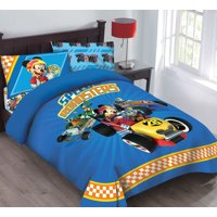 Disney Mickey Mouse Speed Roadster Licensed Comforter Set Set w/Fitted Sheet
